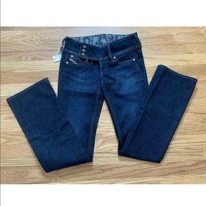 Diesel Cherock Slim Boot Cut Jeans Size 25 X 32